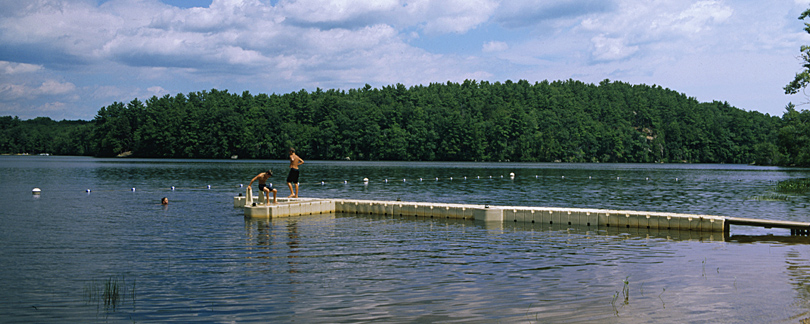 Swimming Dock at Onway Lake Family Resort