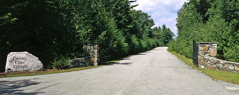Entrance to Onway Lake Family Resort