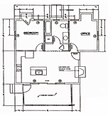 Onway Lake Lilac Cottage Floorplan