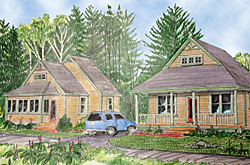 Cottages at Onway Lake, Artistic Rendition